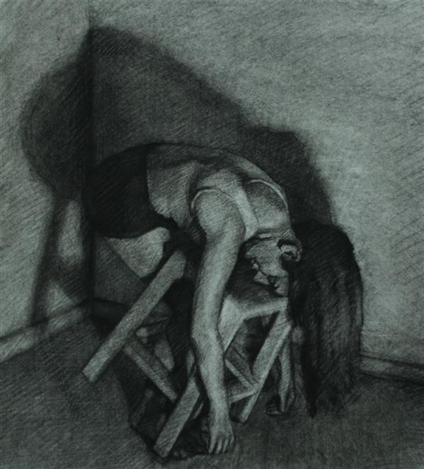 هنر نقاشی و گرافیک محفل نقاشی و گرافیک Elnaz zare هنرمند:الناز زارع تکنیک: زغال روی کاغذ ۴۰×۴۵
