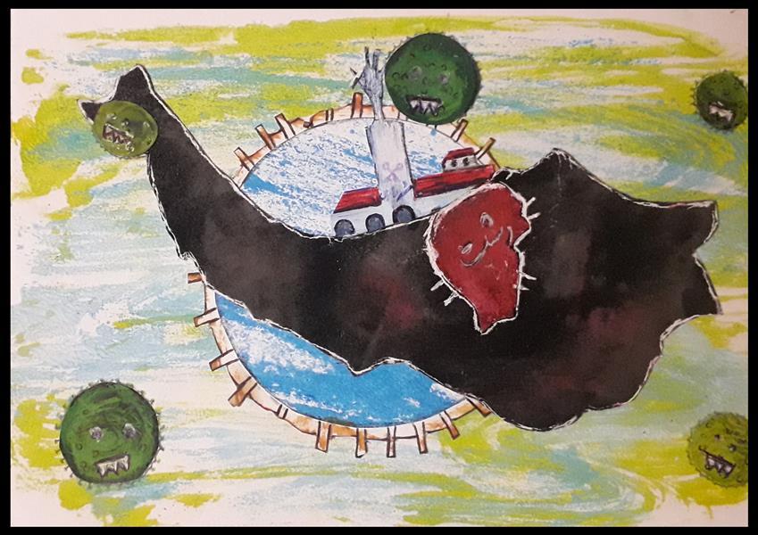 هنر نقاشی و گرافیک محفل نقاشی و گرافیک رها شیخی زاد نام اثر: کرونا در رشت هنرمند:رها شیخی زاد #تصویرسازی#رشت#کرونا#تصویرسازی_ذهنی
