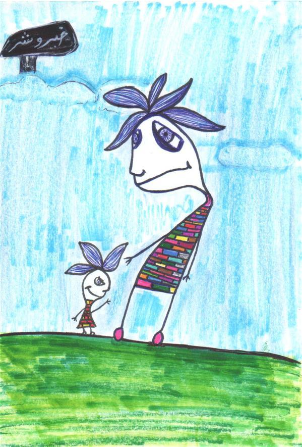 هنر نقاشی و گرافیک محفل نقاشی و گرافیک رها شیخی زاد نام اثر: شخصیت خیر و شر  هنرمند: رها شیخی زاد #تصویرسازی#خلاقیت#رهاـشیخی_زاد