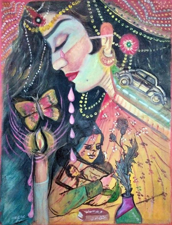 هنر نقاشی و گرافیک محفل نقاشی و گرافیک محمد محمدزاده تیتکانلو عشق اول، رنگ و روغن روی بوم، اثر محمد محمدزاده تیتکانلو 1373