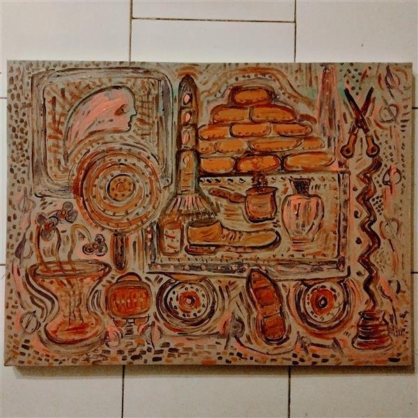 هنر نقاشی و گرافیک محفل نقاشی و گرافیک محمد محمدزاده تیتکانلو رنگ روغن روی بوم، ۱۳۹۹ سبک #دادائیسم ، اثر #محمدمحمدزاده_تیتکانلو