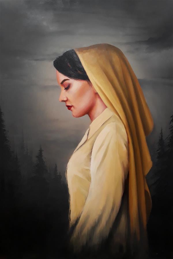 هنر نقاشی و گرافیک محفل نقاشی و گرافیک محدثه محمدی نقاش محدثه محمدی #رنگ_روغن  #رویا #۱۳۹۸