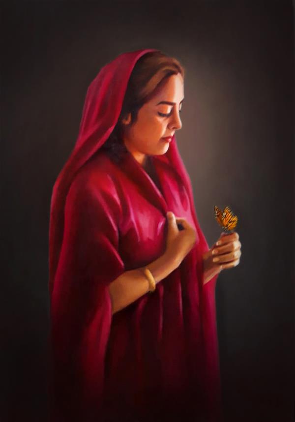هنر نقاشی و گرافیک محفل نقاشی و گرافیک محدثه محمدی #نقاش_محدثه_محمدی #تکنیک_رنگ_روغن #۱۳۹۹