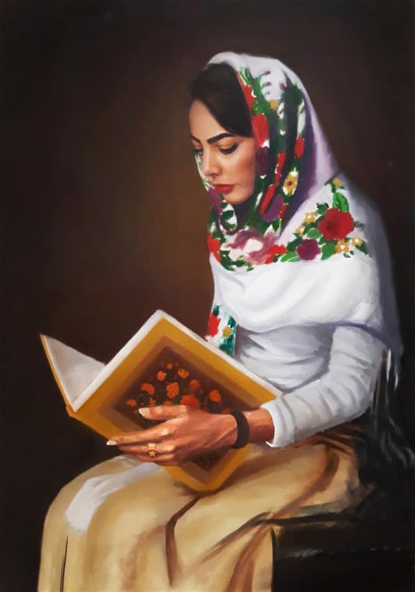 هنر نقاشی و گرافیک محفل نقاشی و گرافیک محدثه محمدی #نقاشی_محدثه_محمدی  #تکنیک_رنگ_روغن #۱۳۹۸