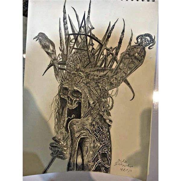 هنر نقاشی و گرافیک محفل نقاشی و گرافیک sina-saidzade نام اثر:عزرائیل  سبک:فوتوریسم تکنیک:سیاه قلم
