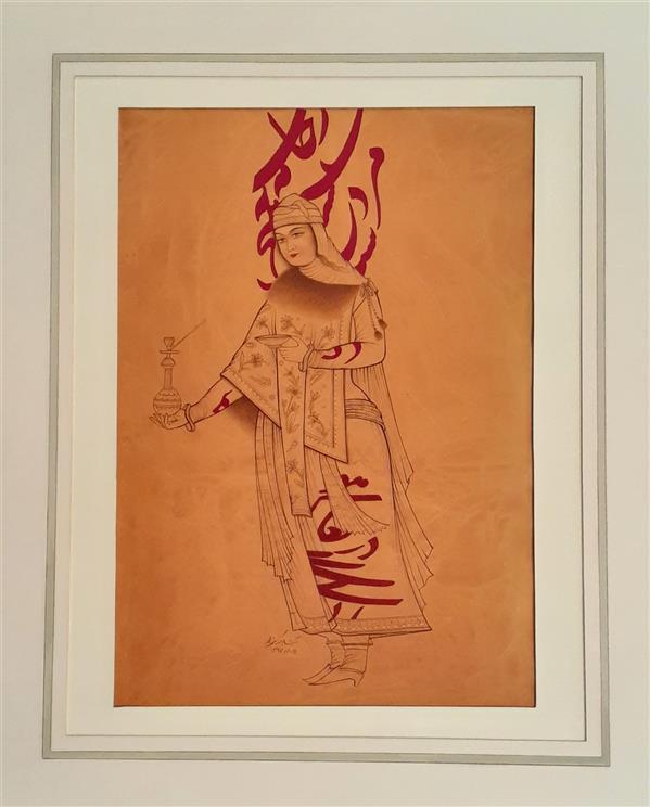 هنر نقاشی و گرافیک محفل نقاشی و گرافیک آزیتا پاک نژاد  قلمگیری ۱۳۹۷