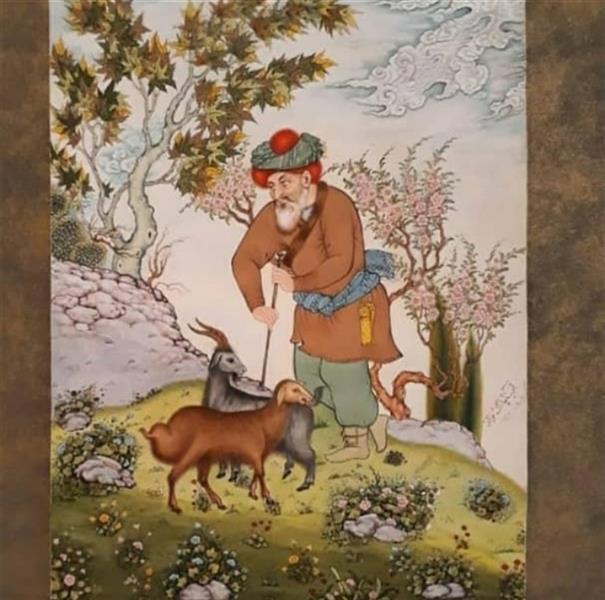هنر نقاشی و گرافیک محفل نقاشی و گرافیک آزیتا پاک نژاد  نگارگری  ۱۳۷۶