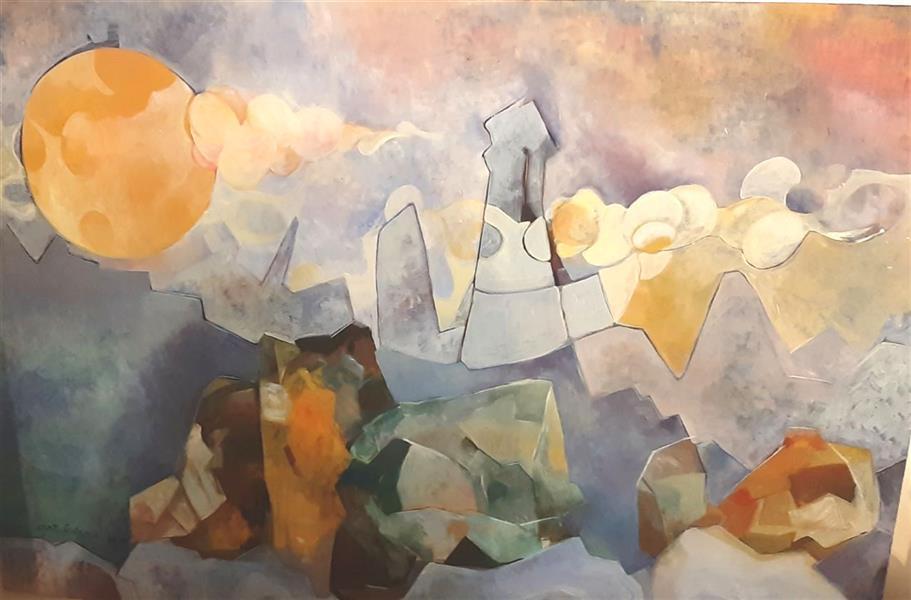 هنر نقاشی و گرافیک محفل نقاشی و گرافیک ساناز غلامی  نقاشی #مدرن #اکسپرسیونیسم #پست مدرن #سوررئالیسم #نمایشگاه #آثار Painting# painte #postmodern #sorerealism مجموعه زندگی ساناز غلامی سال اثر 1398 اکرلیک روی بوم