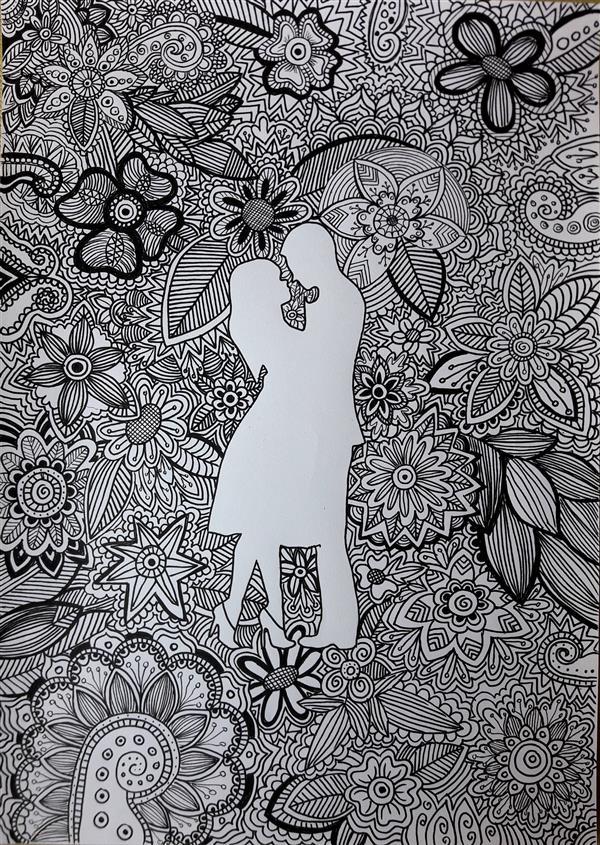 هنر نقاشی و گرافیک محفل نقاشی و گرافیک بهار سمیعی #راپید #مقوا  نام اثر:عشق نام هنرمند:بهار سمیعی 1399/4/15