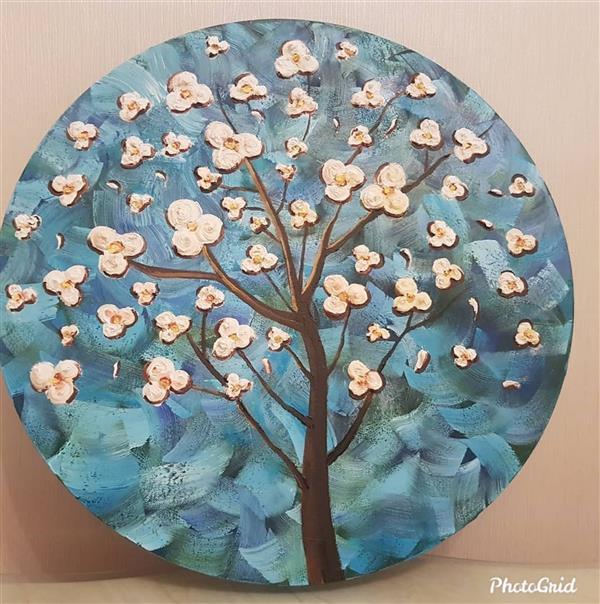هنر نقاشی و گرافیک محفل نقاشی و گرافیک الهام اله دادیان دایره- شکوفه