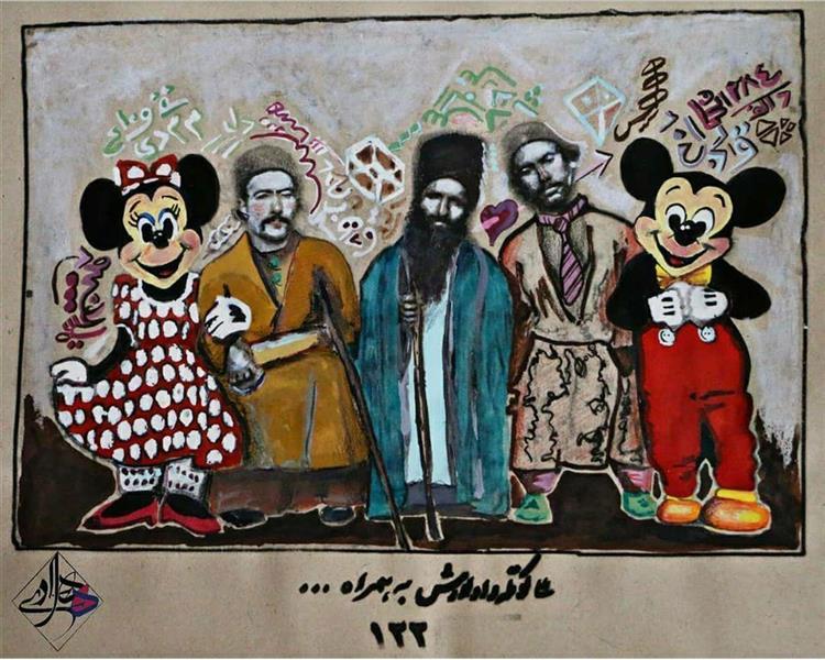 هنر نقاشی و گرافیک محفل نقاشی و گرافیک هادی ترابی ترکیب مواد بدون عنوان 1398 هادی ترابی