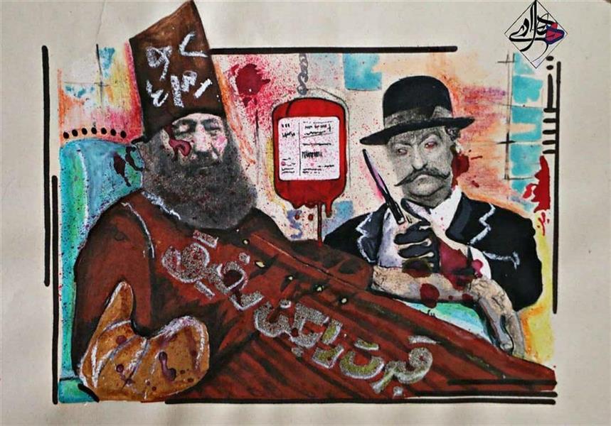 هنر نقاشی و گرافیک محفل نقاشی و گرافیک هادی ترابی اندازه بدون احتساب قاب ترکیب مواد بدون عنوان 1398 هادی ترابی