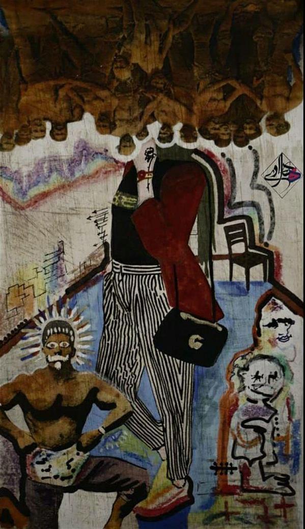 هنر نقاشی و گرافیک محفل نقاشی و گرافیک هادی ترابی اندازه بدون احتساب قاب ترکیب مواد بدون عنوان 1399 هادی ترابی
