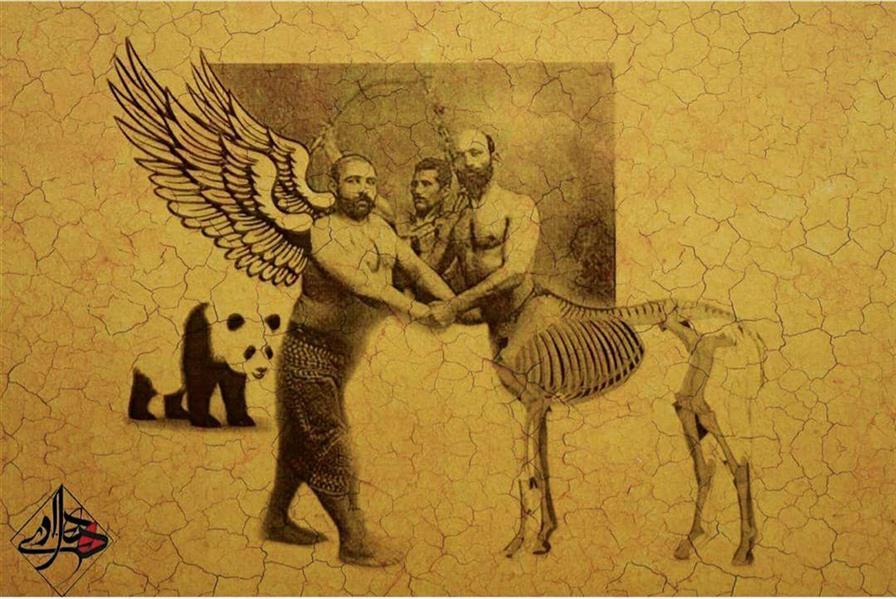 هنر نقاشی و گرافیک محفل نقاشی و گرافیک هادی ترابی اندازه بدون احتساب قاب چاپ و اکولین بدون عنوان 1399 هادی ترابی