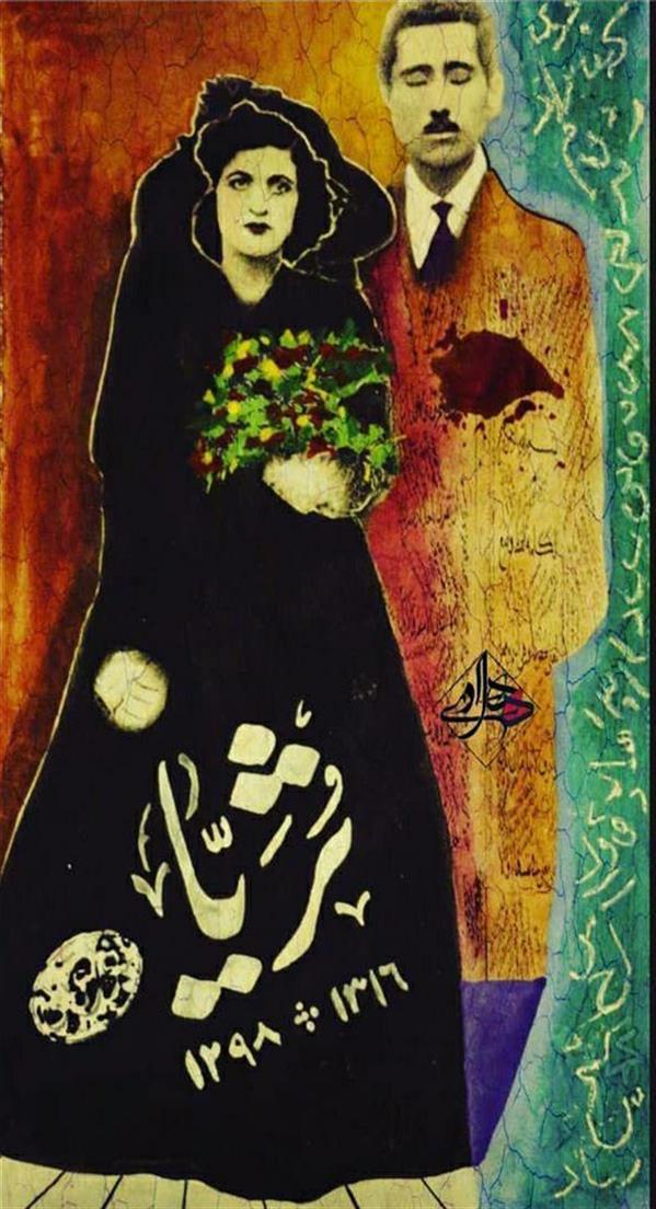 هنر نقاشی و گرافیک محفل نقاشی و گرافیک هادی ترابی اندازه بدون احتساب قاب  ترکیب مواد 1398 برداشت آزاد هادی ترابی
