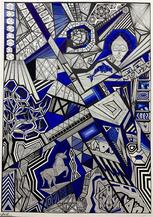هنر نقاشی و گرافیک محفل نقاشی و گرافیک سوگل شیرخدایی نام اثر: صدای جهان سال خلق اثر: ۱۳۹۹ تکنیک : راپید گواش متریال : مقوا