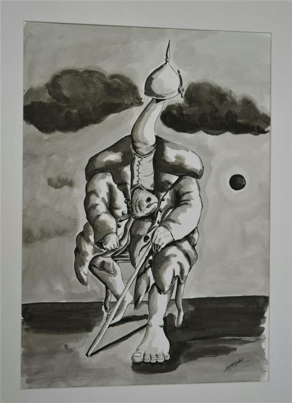 هنر نقاشی و گرافیک محفل نقاشی و گرافیک Mojtabayadollahi مرکب چینی بر روی مقوا