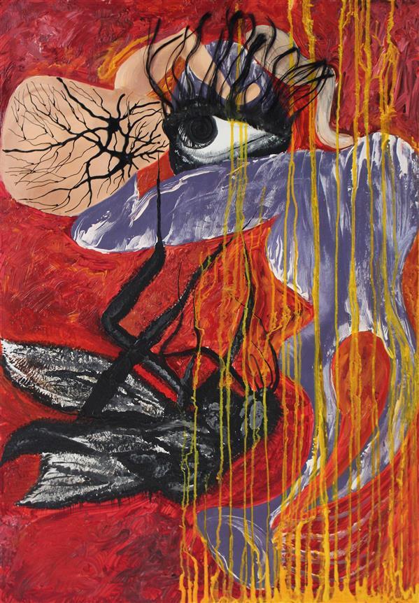 هنر نقاشی و گرافیک محفل نقاشی و گرافیک نوشین محمدی #سورئالیسم #رنگ روغن /اکرلیک سال 1392