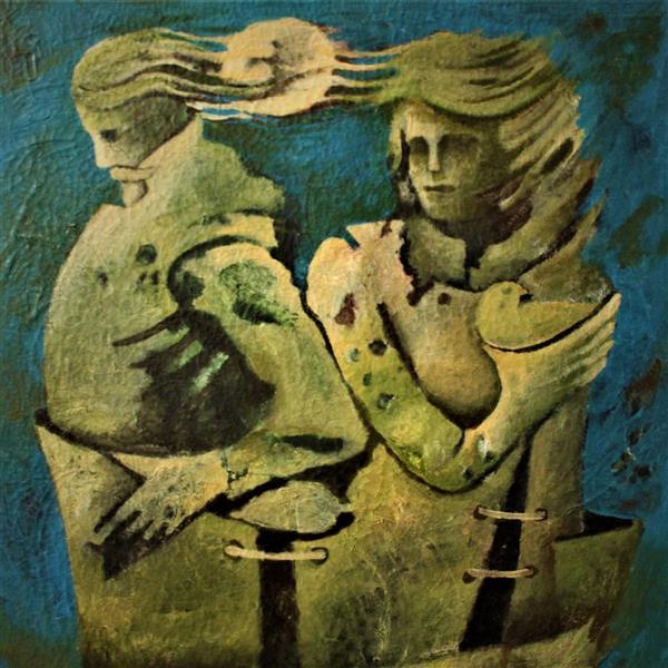 هنر نقاشی و گرافیک محفل نقاشی و گرافیک عباد کرمی  ترکیب مواد و اکرلیک