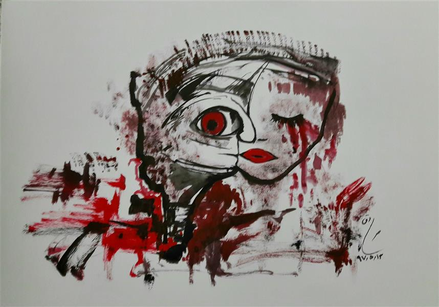 هنر نقاشی و گرافیک محفل نقاشی و گرافیک صادق رضوان پور گواش_۹۷_اشک