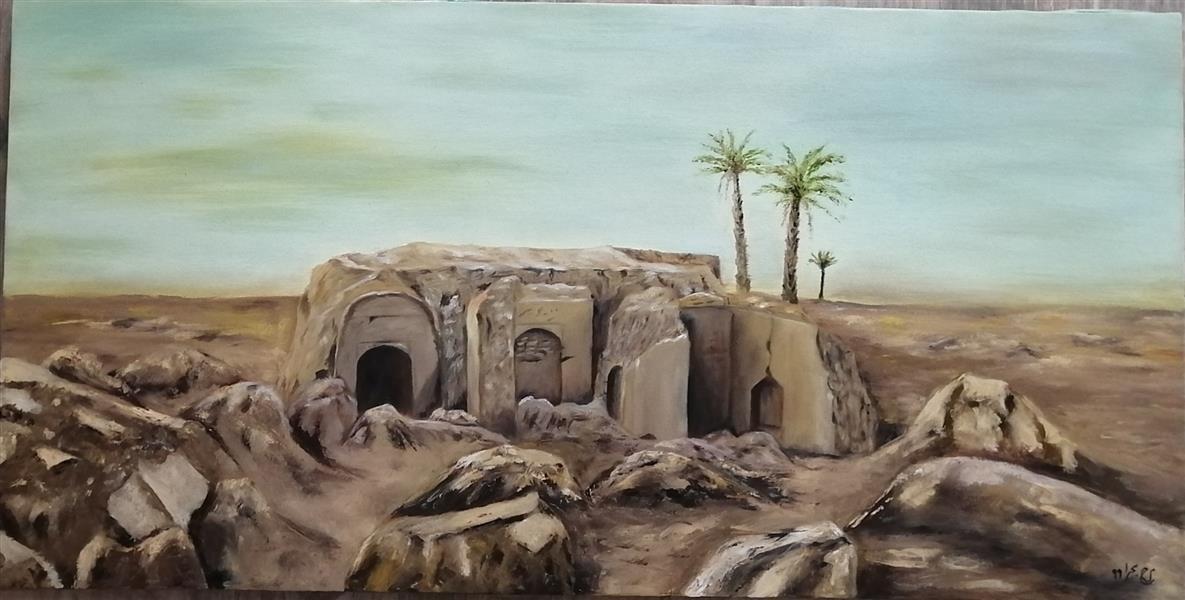 هنر نقاشی و گرافیک محفل نقاشی و گرافیک م- ح- صحرا #شهرسوخته 1399#رنگ روغن خالق اثر: م_ح_صحرا#
