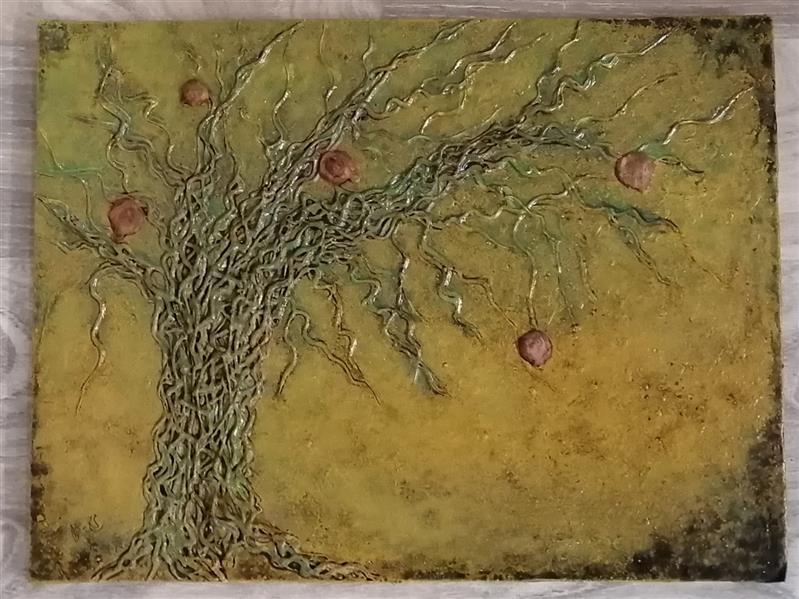 هنر نقاشی و گرافیک محفل نقاشی و گرافیک م- ح- صحرا م_ح_صحرا #متریال :رنگ روغن و چسب#