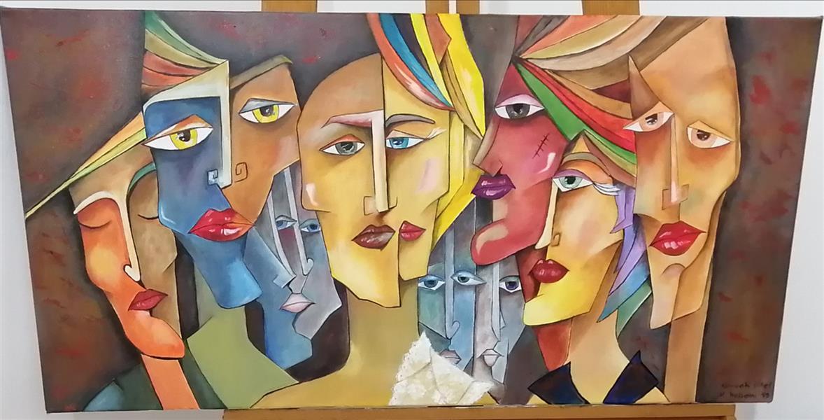 هنر نقاشی و گرافیک محفل نقاشی و گرافیک م- ح- صحرا #رومئو و ژولیت سال خلق اثر 1399#متریال: رنگ روغن روی بوم #م ح _صحرا#