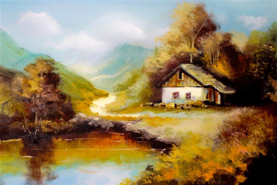 هنر نقاشی و گرافیک محفل نقاشی و گرافیک الهه حسن پوراقدم fall# Oil colored# Creator of Art: elahe hasan pour # size : 60*43 # # پاییز # رنگ روغن روی بوم  # خالق اثر : الهه حسن پوراقدم