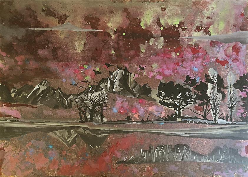 هنر نقاشی و گرافیک محفل نقاشی و گرافیک Mariam_moeini #مریم معینی#درختان رویایی#اکریلیک روی بوم