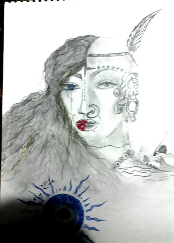 هنر نقاشی و گرافیک محفل نقاشی و گرافیک دینا کمالی نقاشی بامدادطراحی موضوع ذهنی خدایان مصر