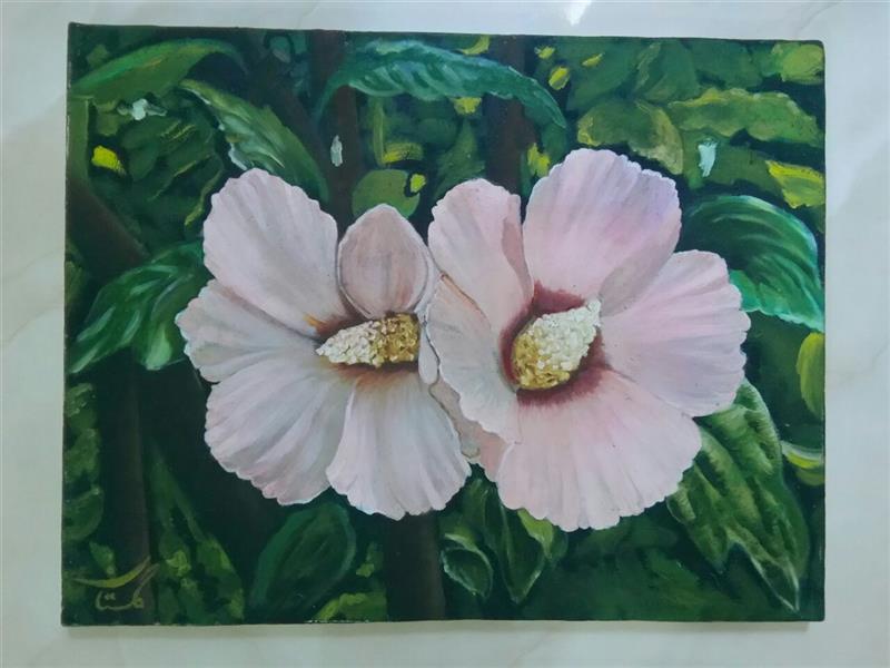 هنر نقاشی و گرافیک محفل نقاشی و گرافیک گلستان تکنیک رنگ و روغن ، سایز ۴۵ در ۳۵ ، قیمت 750000