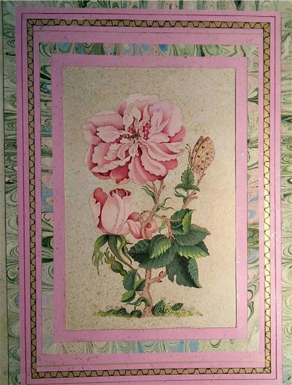 هنر نقاشی و گرافیک محفل نقاشی و گرافیک گلستان گل و پروانه ، مثنی سازی از آثار قدما به شیوه ی گل و مرغ ،  تکمیل اثر مربوط به خرداد ماه سال ۹۶ می باشد .