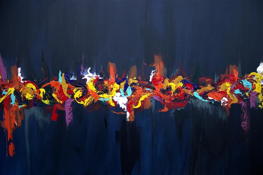 هنر نقاشی و گرافیک محفل نقاشی و گرافیک سیده نسترن جلیلی شانی #متریال:بوم ،سال خلق اثر:1399،نام اثر:مهمانی رنگ،هنرمند:نسترن جلیلی شانی