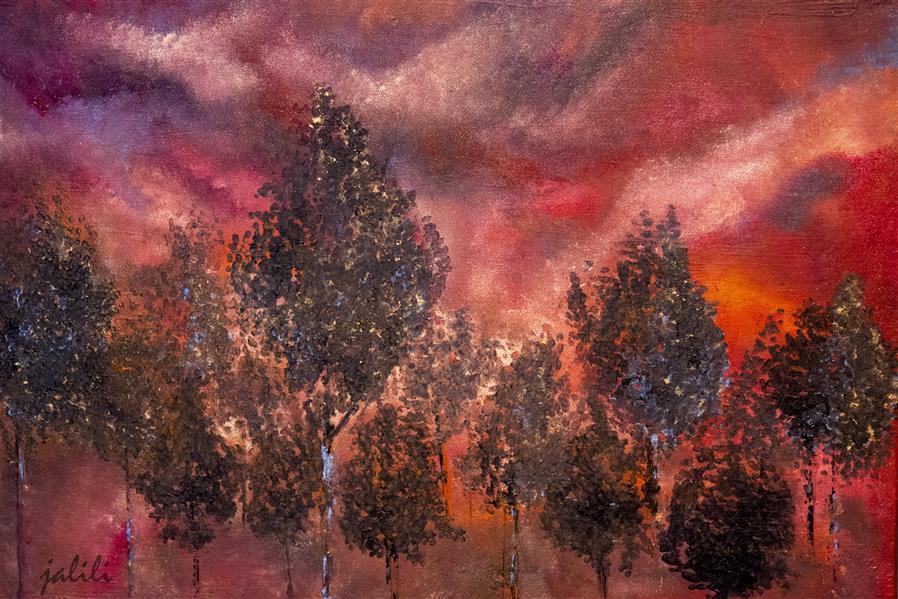 هنر نقاشی و گرافیک محفل نقاشی و گرافیک سیده نسترن جلیلی شانی رنگ روغن#نسترن جلیلی#گرمای سرخ،۱۳۹۹