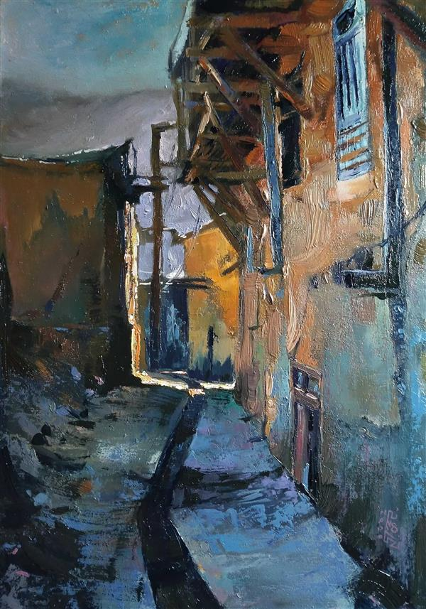 هنر نقاشی و گرافیک محفل نقاشی و گرافیک علی نوروزی Oilpainting on #canvas# Kang Village 2020, Ali norouzi