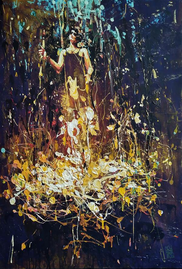 هنر نقاشی و گرافیک محفل نقاشی و گرافیک علی نوروزی #آکرلیک روی بوم  ۱۳۹۸ علی نوروزی