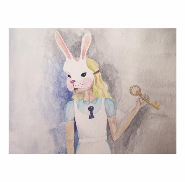 هنر نقاشی و گرافیک محفل نقاشی و گرافیک زهرا یعقوبی آبرنگ Alice in wonderland or #wonderland in #Alice?!
