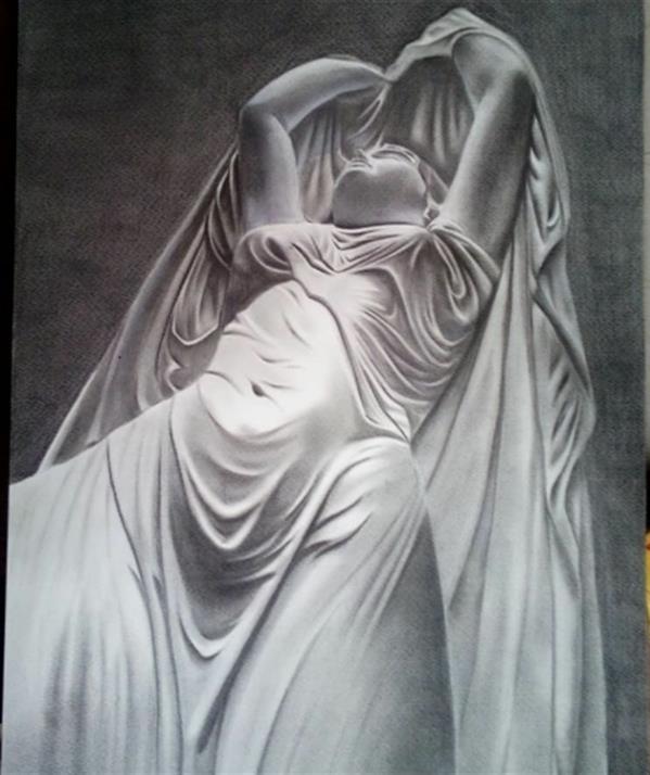 هنر نقاشی و گرافیک محفل نقاشی و گرافیک امیر عباسی مقدسی Pastel, Conte pencil مقوا فابریانو ۱۳۹۷