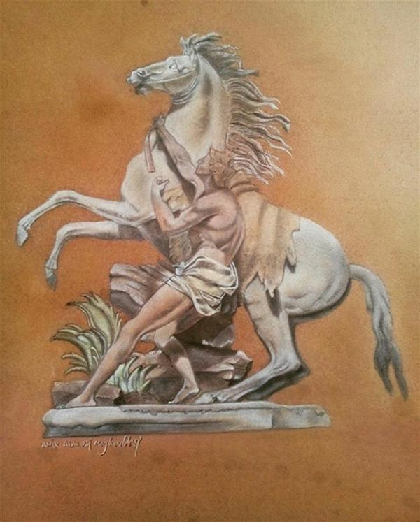 هنر نقاشی و گرافیک محفل نقاشی و گرافیک امیر عباسی مقدسی پاستل و مداد پلی کروم متریال: مقوا کانسون ۱۳۹۷