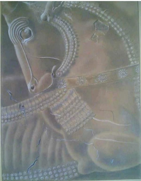 هنر نقاشی و گرافیک محفل نقاشی و گرافیک امیر عباسی مقدسی Pastel 2002 Perspolis