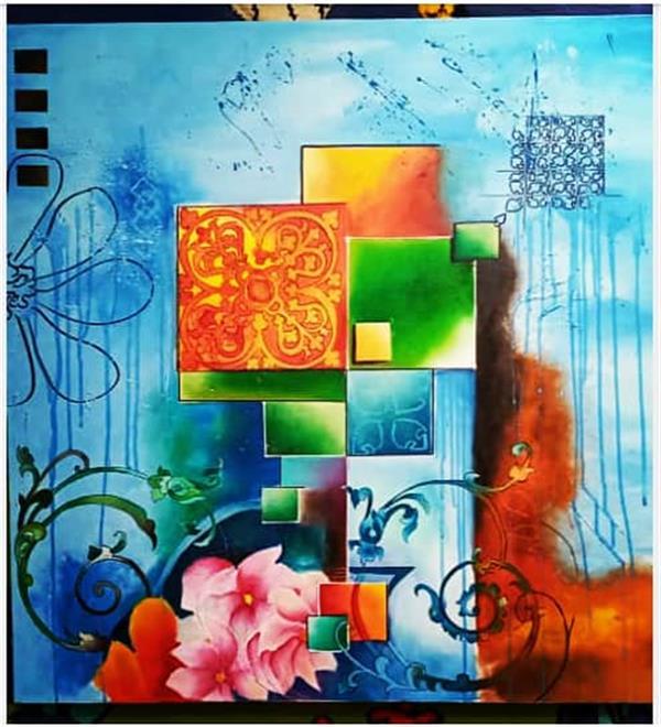 هنر نقاشی و گرافیک محفل نقاشی و گرافیک پروانه ملاحسینی تابلو رنگ و روغن . میکس مدیا