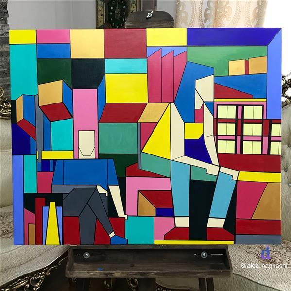 هنر نقاشی و گرافیک محفل نقاشی و گرافیک آیدا جمالی متریال: آکلیریک سال: ۱۳۹۹ نام اثر: نادیده نام هنرمند: آیدا جمالی