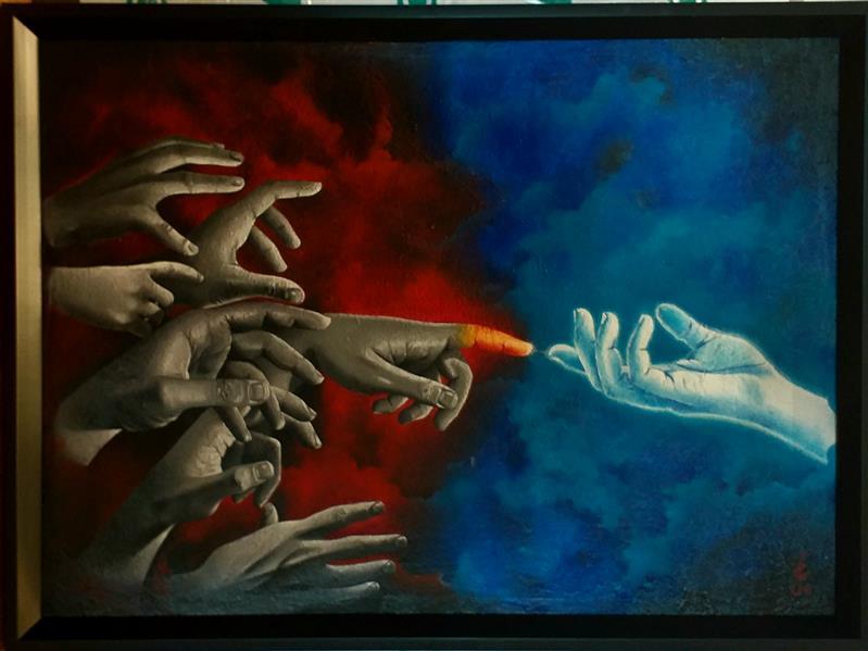 هنر نقاشی و گرافیک محفل نقاشی و گرافیک بلال جوان #رنگ_روغن_روی_بوم ، سال خلق اثر :۱۳۹۹ ، نام اثر : وصال ، نام هنرمند : بلال جوان