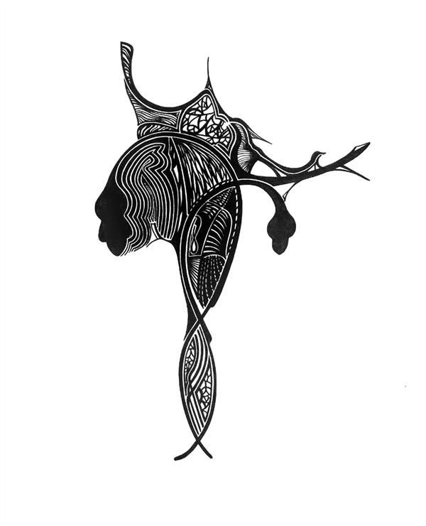 هنر نقاشی و گرافیک محفل نقاشی و گرافیک مینا نظامی Mina Nezami/1390 /خودکار روی کاغذ/ نام اثر : ملکه