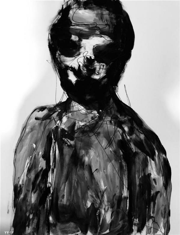 هنر نقاشی و گرافیک محفل نقاشی و گرافیک فاطمه سرائی متریال:گواش#مقوا_بدون ابزار سال:١٣٩٨ نام اثر:درخود گم شدگی #فاطمه_سرائی