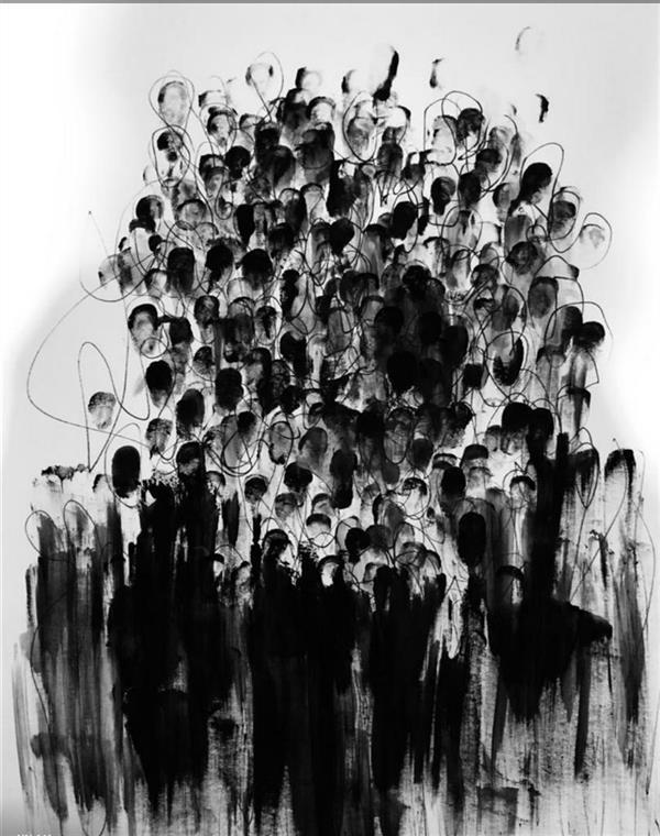 هنر نقاشی و گرافیک محفل نقاشی و گرافیک فاطمه سرائی متريال:گواش#خودكار#مقوا_بدون ابزار سال:١٣٩٨ نام اثر:خفقان #فاطمه سرائي