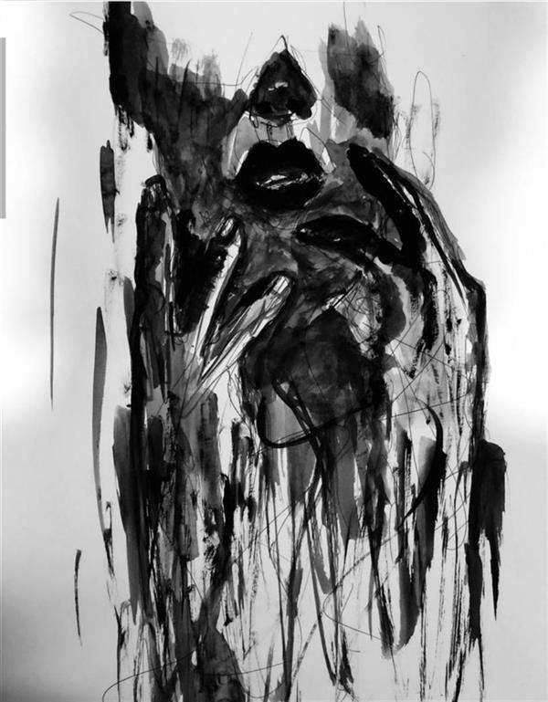 هنر نقاشی و گرافیک محفل نقاشی و گرافیک فاطمه سرائی متريال:گواش#مقوا_بدون ابزار سال:١٣٩٨ نام اثر:فروريخته #فاطمه_سرائي