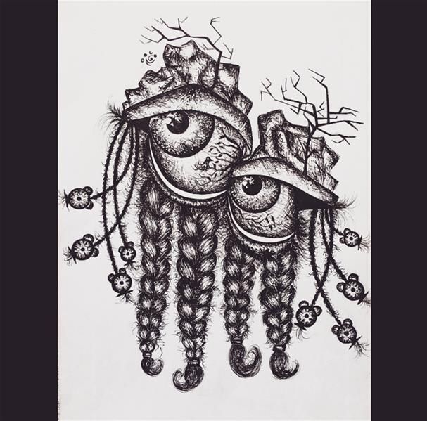 هنر نقاشی و گرافیک محفل نقاشی و گرافیک faezeh aghajai تکنیک راپید Tired