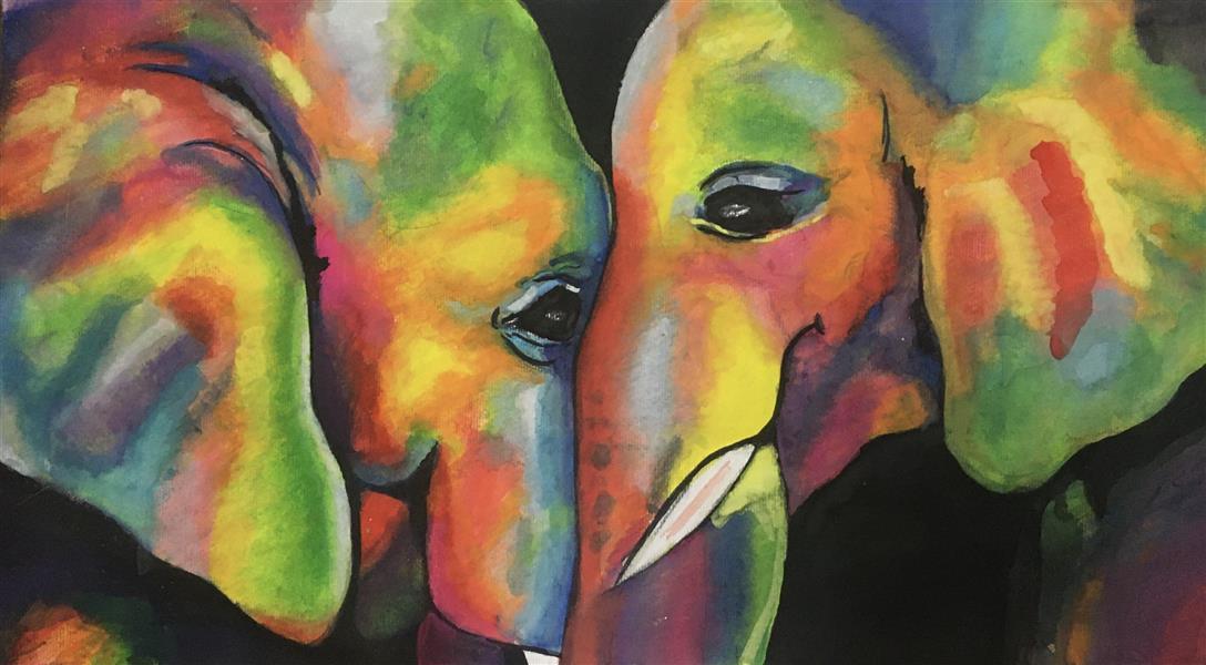 هنر نقاشی و گرافیک محفل نقاشی و گرافیک Arezooai  آبرنگ_مقوا  قاب شده مجموعه سه تايي