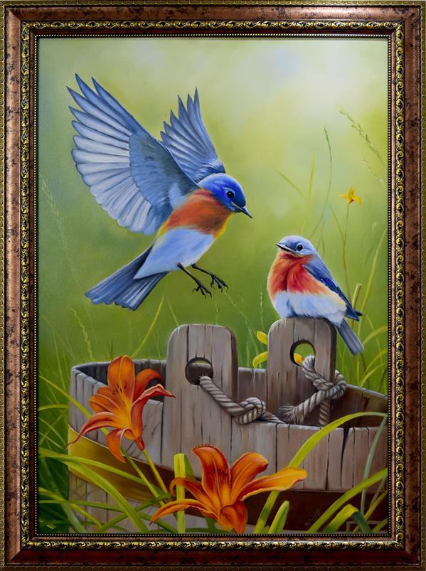 هنر نقاشی و گرافیک محفل نقاشی و گرافیک محمود شیخ حسینی #استراحت پرنده ها